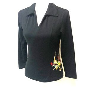 Christian Dior Phoenix Embroidered Vintage 90s Top